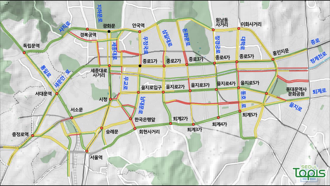 주요지역 속도정보